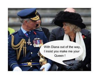 "Prince Charles & Camilla Satire Photo. 10""x8"" FREE UK shipping. Item #200"