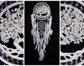 Wedding Dream Catcher White Tree of life Dreamcatcher white agate Dreamсatcher wall handmade idea gift birthday dream catcher Wedding gift