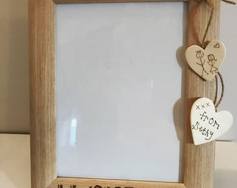 Personalised Wooden Picture Frame Handmade