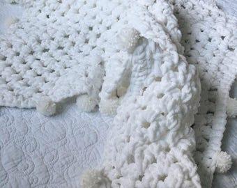 Woven Baby Blanket, Soft Baby Yarn Blanket