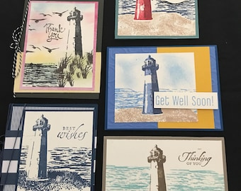 Lighthouse Greeting Cards (Set of 5) Group B