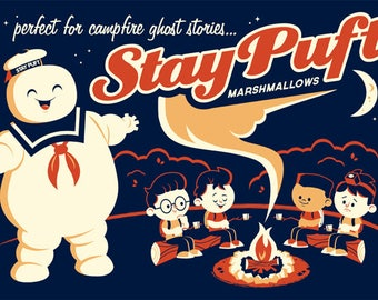 Dave Perillo, Stay Puft, Ghostbusters, Limited Edition, Print, Art, Screenprint, 1 of 84