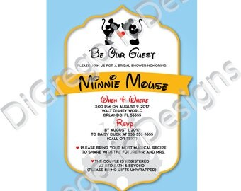 Mickey and Minnie Bridal Shower Invitation