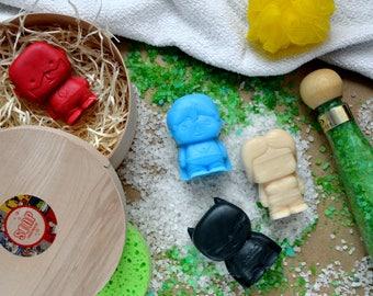 Inspired by DC Comics Superheroes 100 % handmade organic soap set