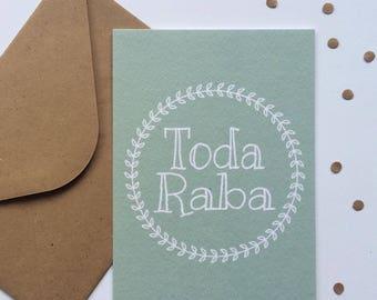 Toda Raba card