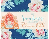 """PREORDER Tilda USA! The SUNKISS Collection by Tone Finnanger   Sun Kiss Charm Pack   5"""" Squares   Quilt Fabric   Fabric Bundle  """
