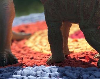 36 inch Sunset Crocheted Round Rag Rug