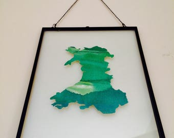Green Fields Map of Wales