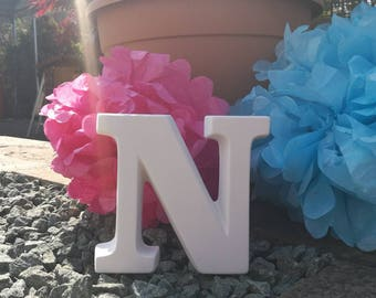 Ceramic Letter 'N' Bespoke Hand Painted to Order