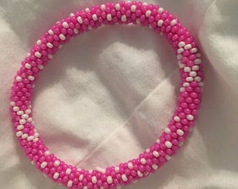 Breast Cancer Awareness (Pink and White w/ Ribbon)