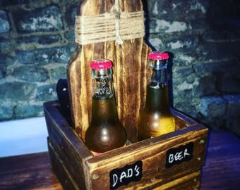 Rustic handmade Beer / remote holder perfect for any man cave