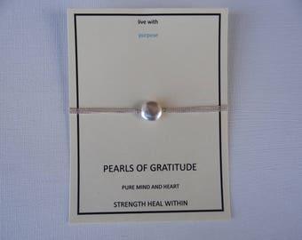 sterling silver coin pearl bracelet