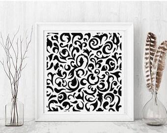 Black and White Designer Print