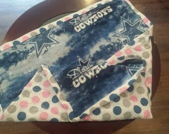 Girls Dallas Cowboys Soft Baby Blanket