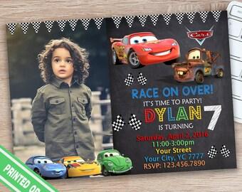 ON SALE 30%Cars Invitation - Cars Birthday Inviation - Cars Birthday Party Invitation