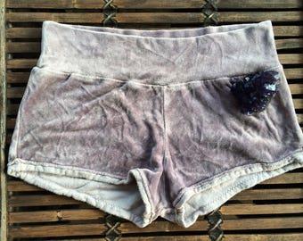 small bamboo velour booty shorts