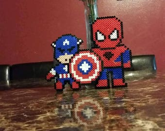 Captain America and Spiderman magnets