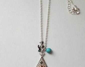 Tee pee charm necklace