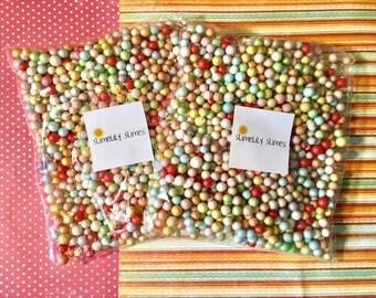 11 mm Foam Beads, Slime Confetti Beads, Multi-color Foam Beads for Slime, Large Size Goam Beads