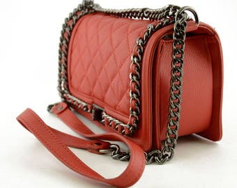 Genuine Quilted Leather Bag