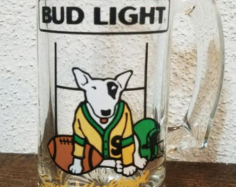 Spuds MacKenzie Beer Mug Football Theme 1987
