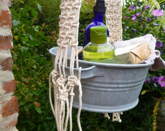 HANGING MACRAME Hanging Macrame Basin Bowl
