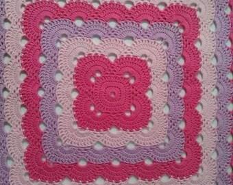 Crochet Scalloped Afghan aka Virus Stitch