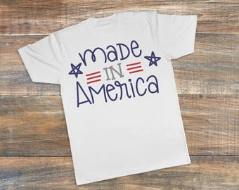 Made in America shirt, Made in America Bodysuit, fourth of july bodysuit, independence day bodysuit, America shirt, Red White and Blue shirt