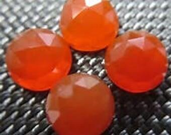 10 pieces orange carnelian rose cut cabochon calibrated size gemstone