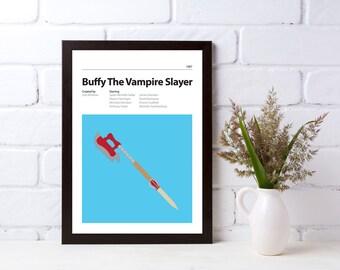 BUFFY - DIGITAL DOWNLOAD - Alternative Movie Poster - Sarah Michelle Gellar, Alyson Hannigan, James Masters - Buffy The Vampire Slayer