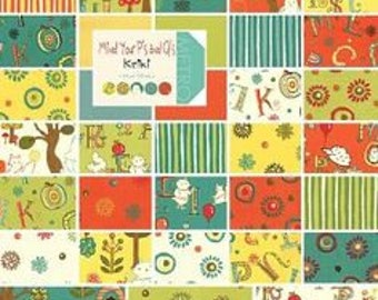 Mind Your Ps and Qs Layer Cake - Aneela Hoey Fabric - Moda Fabric