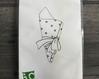 Impression Obsession Rubber Cling Stamp