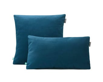 Decorative Pillow Case VELOUR Blue
