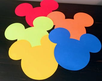 Mickey Mouse Die Cuts (20 Large OR 80 Small)