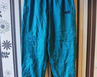 Vintage Sport Pants/Pants With Elastic Waist/Trefoil Trousers/90's Windbreakers/Sport Trousers/Vintage Activewear/M Size