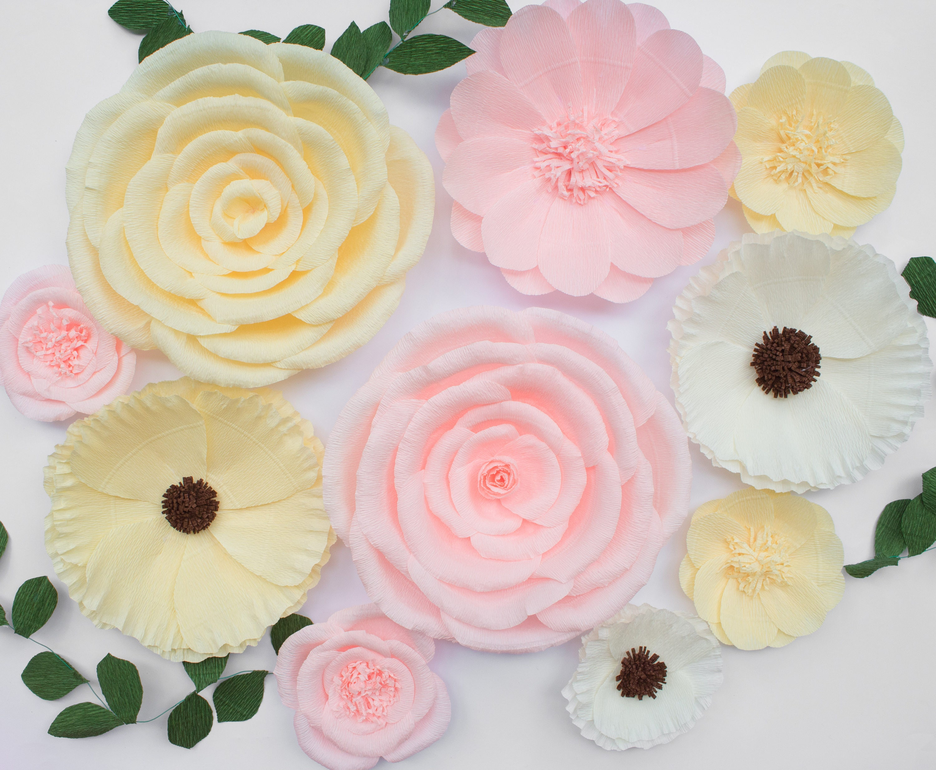 wedding birthday backdrop room girl baby first paper shower wall party fullxfull bridal flower nursery decor photo il rose listing shoot