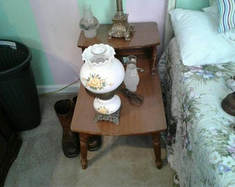 Vintage Gone With The Wind Hurracain Lamp
