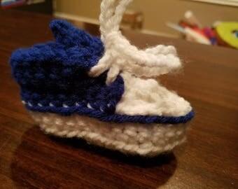Baby Blue Tennis Shoe Booties