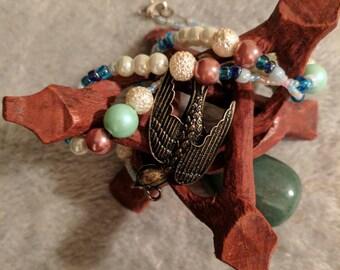 Beaded Bird Necklace