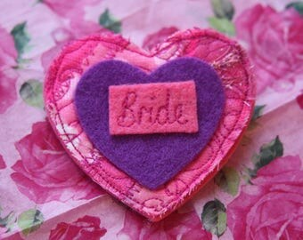 Hen Party brooches, Hen Party accessories, bride, set of 5