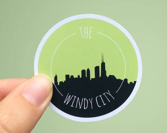 The Windy City | Chicago Travel Sticker | Matte or Glossy Finish
