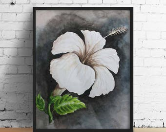 Watercolor painting of china rose