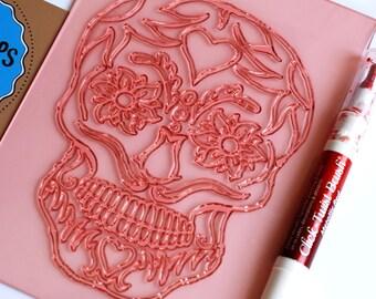 Big skull stamp