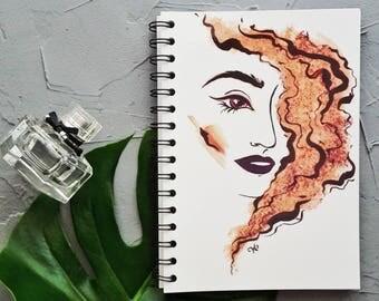 Kitish notebook with fashion illustration / notepad