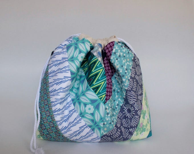 Project Bag for knitters Large drawstring