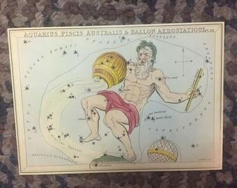 """Vintage Constellation Star Charts 5.5x8"""" pt3"""
