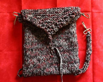 Leg Pouch Hand Knit With Recycled Fabric