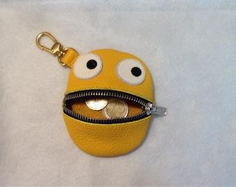 Portfolio. Coin holder. Children's portfolio. Leather wallet. Keychain Leather Keychain