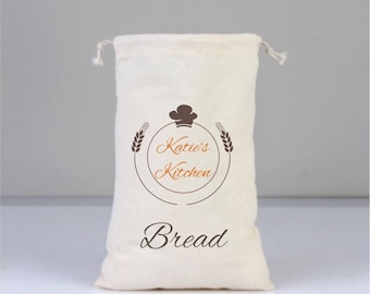 Cotton bags drawstring, Personalized Kitchen's Bag, Kitchen's Bag, Natural Cotton Bags, Bread Bags, Kitchen Decor, Kitchen Art, Legumes Bag