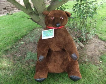 Vintage 1970,S 3 Foot Tall Limited Edition Hercules the Grizzly Bear Teddy Bear